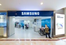 三星在Suria KLCC购物中心,吉隆坡存放 免版税库存照片