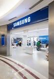 三星在Suria KLCC购物中心,吉隆坡,马来西亚存放 库存照片