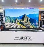 三星UHD电视在低Yat广场,吉隆坡,马来西亚 库存图片