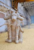 三朝向狗雕塑:交通博物馆, Bassendean,西澳州 图库摄影