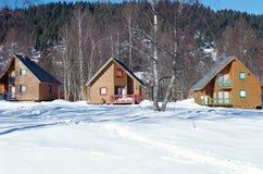 三木瑞士山中的牧人小屋, La Feclaz,开胃菜 库存照片