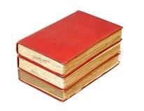 三本古色古香的书 图库摄影