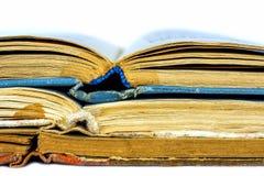三本旧书特写镜头  免版税库存照片