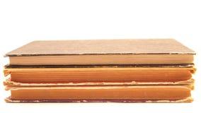 三本老破旧的书 图库摄影