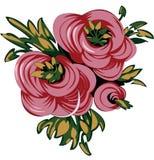 三朵传染媒介玫瑰 图库摄影