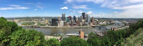 三条河匹兹堡宾夕法尼亚空中全景 库存照片
