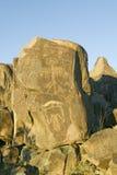 三条河刻在岩石上的文字全国站点, a (BLM)局土地管理站点,特点超过21,000当地美洲印第安人pe 库存图片