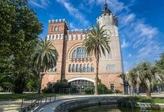 三条龙城堡在巴塞罗那,西班牙 免版税库存照片
