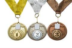 三枚奖牌 免版税库存图片