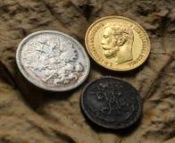 三枚硬币 免版税库存图片