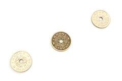 三枚硬币DKK 免版税图库摄影