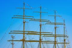 三桅帆帆柱  免版税库存照片