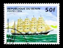三桅帆,帆船serie,大约1996年 免版税库存照片