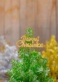 三棵色的圣诞树 库存照片