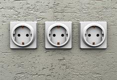 三次电子插口 库存图片