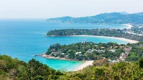 三海湾在普吉岛泰国 库存照片