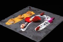 三烤了经验丰富的美味圣雅克 免版税库存照片