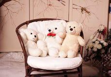 三白熊 库存照片