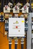 三相磁性接触器和保险丝 免版税库存照片