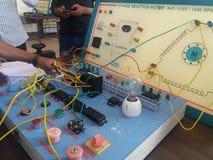 三相磁感应电动机盘区 图库摄影