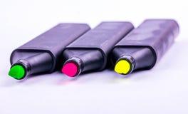 三种颜色标志 免版税图库摄影