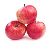 三红色苹果 图库摄影
