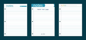 三线性笔记本页 图库摄影
