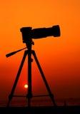 三脚架:轻松的摄影师 免版税图库摄影