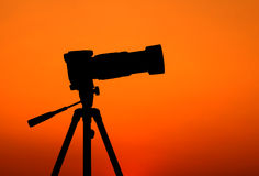 三脚架:轻松的摄影师 免版税库存照片