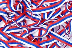 三色丝带 免版税库存图片