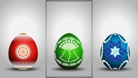三色的复活节 库存图片