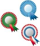三色的奖牌 库存照片