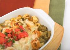 三色的意大利式饺子 免版税库存图片