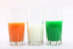 三色的玻璃 免版税库存照片