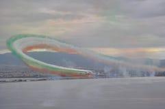 三色空气的箭头 免版税库存照片