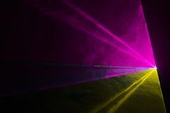 三色迪斯科激光 库存图片
