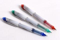 三色3支的笔 免版税库存照片