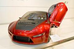 三菱红色sportcar 免版税库存图片