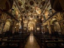 三藩市教会和女修道院内部,萨尔瓦多da巴伊亚,增殖比 免版税库存图片