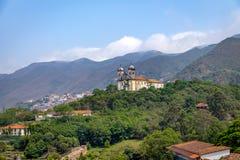 三藩市de宝拉Church -欧鲁普雷图,米纳斯吉拉斯州,巴西 库存照片