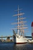 三被上船桅的三桅帆北欧海盗 哥特人瑞典 免版税库存图片