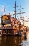 三被上船桅的帆船造纸机 库存照片