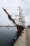 三被上船桅的飞剪机Stad阿姆斯特丹 库存照片