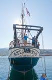 三被上船桅的brigg亚特兰提斯 图库摄影