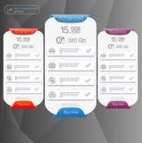 三被覆盖的天空服务的横幅,站点的接口 网的app横幅 免版税库存照片