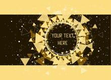 三角、星和圈子样式背景 库存图片