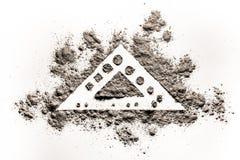 三角元素形状概念在灰,尘土的图画例证 图库摄影
