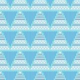 三角几何抽象无缝的样式 向量例证