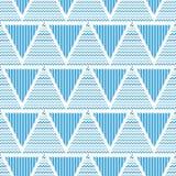 三角几何抽象无缝的样式 皇族释放例证