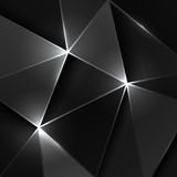 黑三角几何背景 库存照片